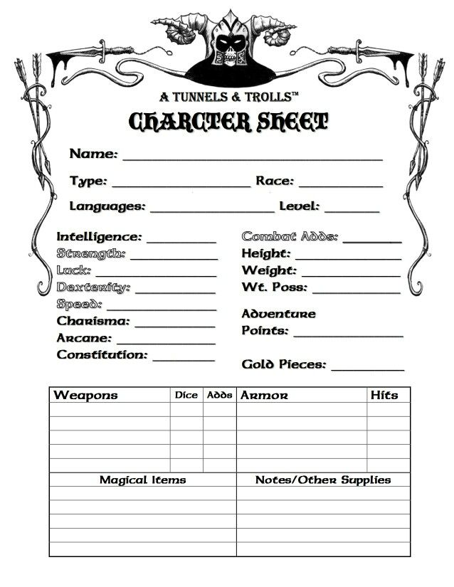 Pin by Dobby The Elf on Gaming: Character Sheets: AD&D