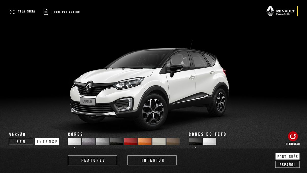 Renault Captur Car Configurator On Behance