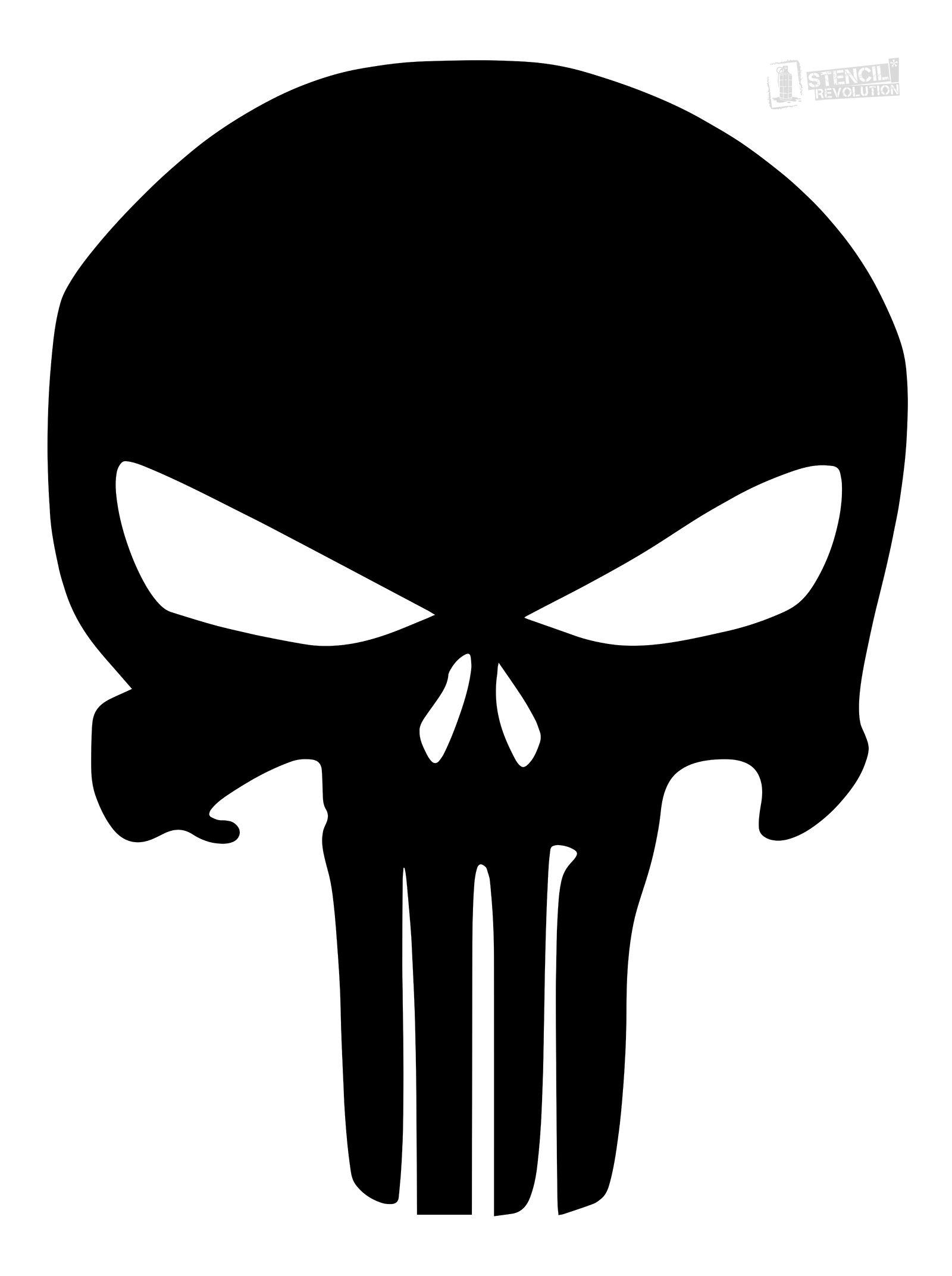 Punisher Skull Stencil