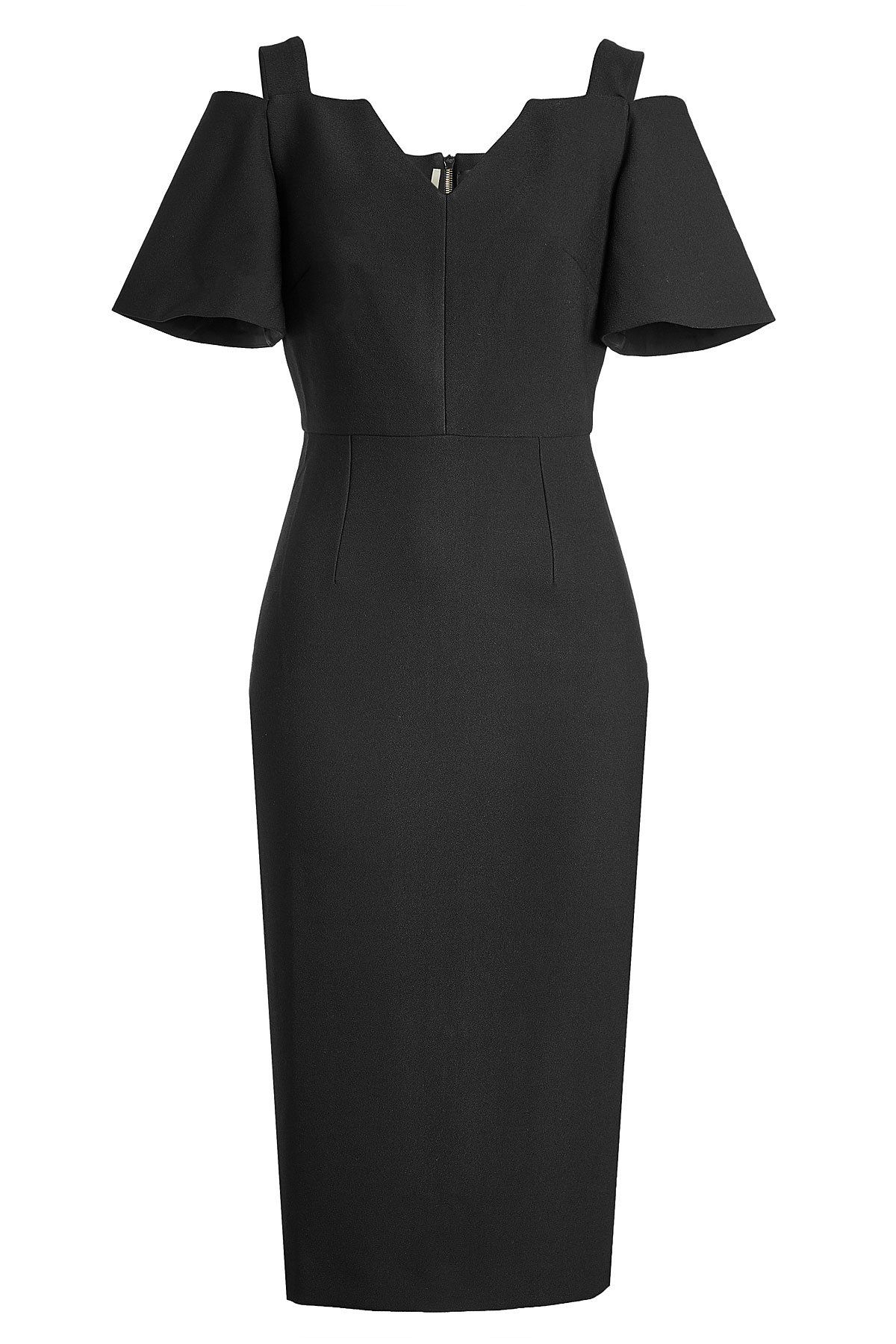 4cada9762650 Roland Mouret Tailored Dress with Cut-Out Shoulders