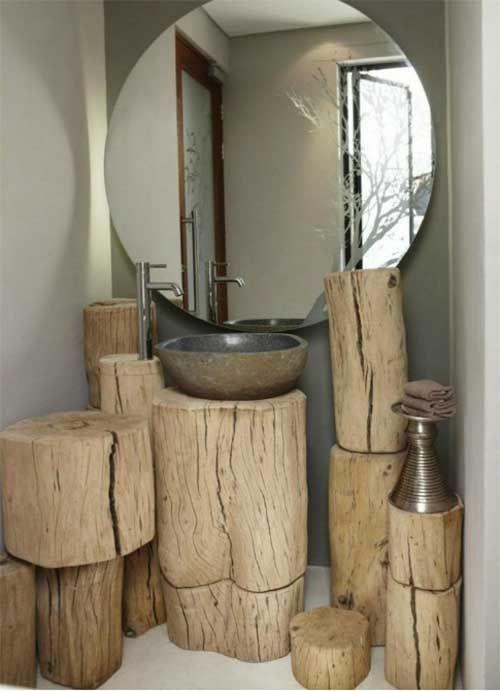 10 ideas para utilizar troncos de madera en la decoracin