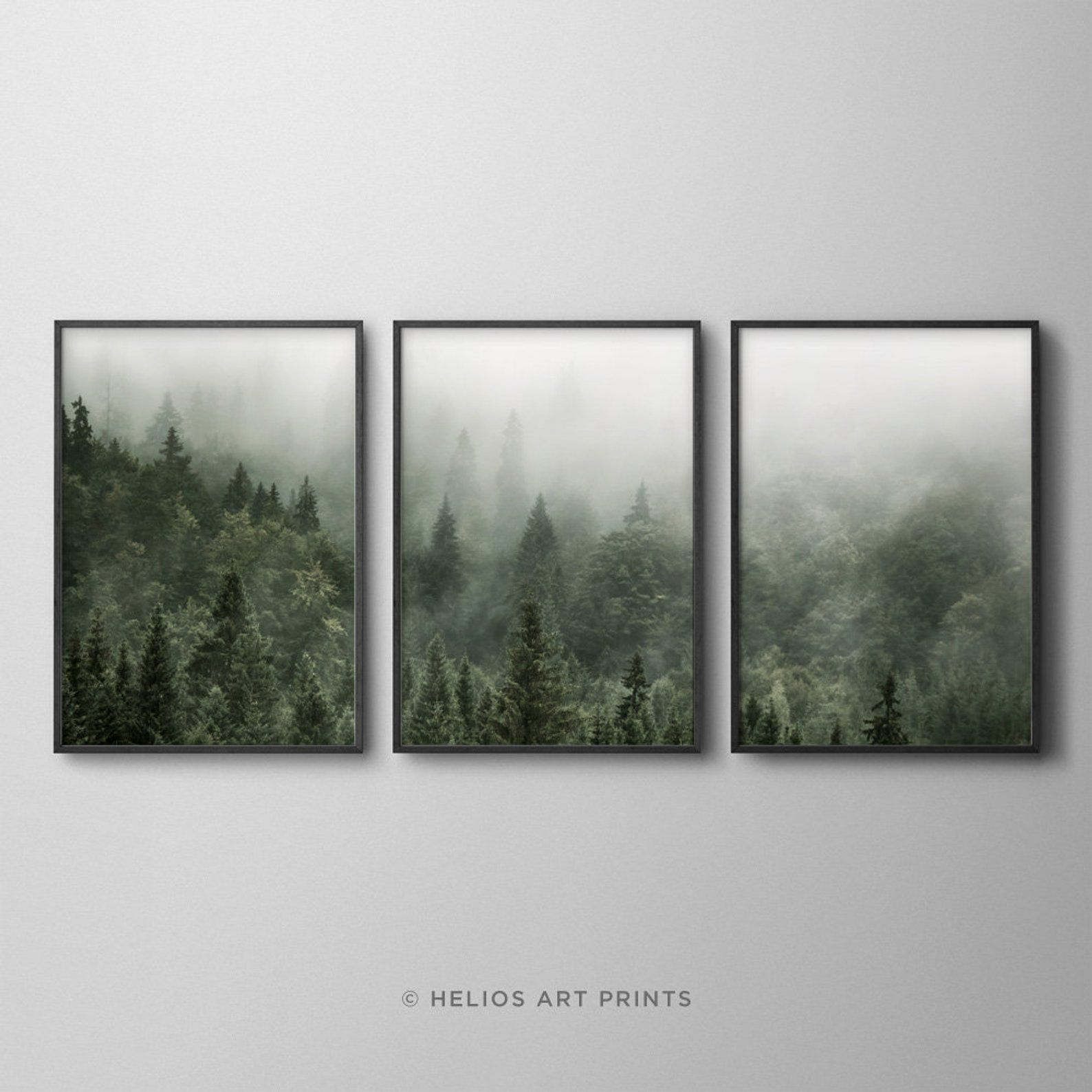 RED ABSTRACT TREES NATURE WALL ART POSTER A1 - A5 SIZES AVAILABLE
