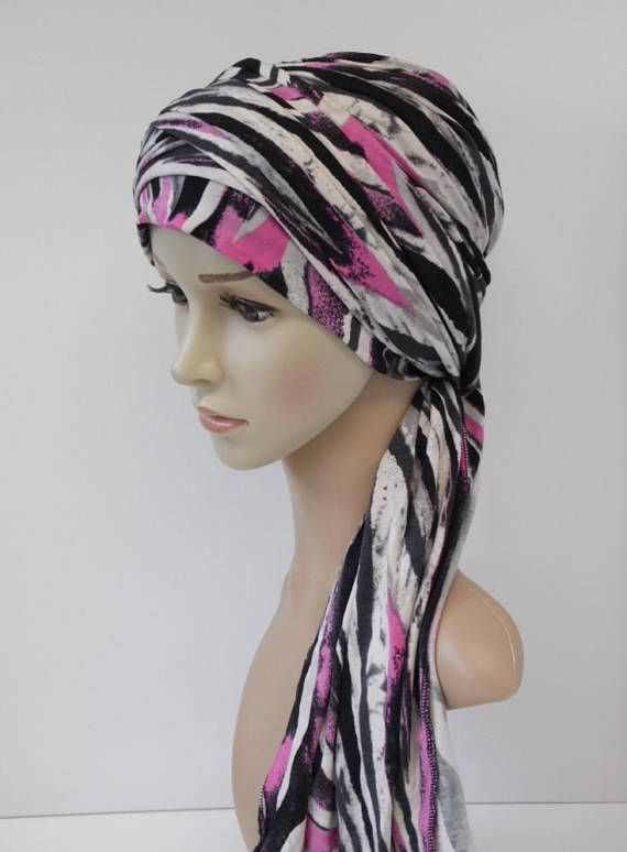 Volume turban snood, bad hair day scarf, turban with long ends ...