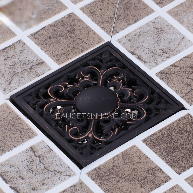 Vintage Oil Rubbed Bronze Floral Shower Drains With Images