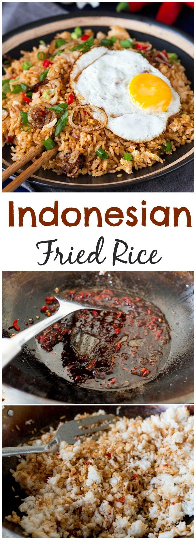 How to make spicy Indonesian fried rice.