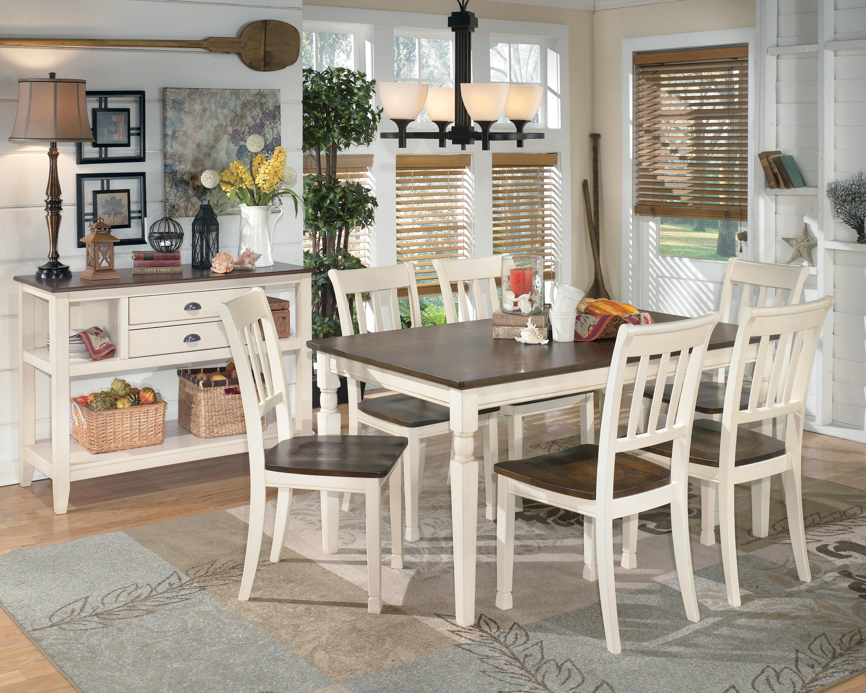 Whitesburg 7 Piece Rectangular Dining Table Set By Signature Design By  Ashley Part 74