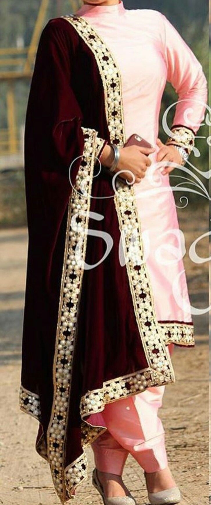 Boutique Suit Baby Pink Silk Suit With Velvet Dupatta Whatsapp 919646916105 Indian Outfits Clothes For Women Punjabi Outfits,Graphic Design Creative Dance Poster Background