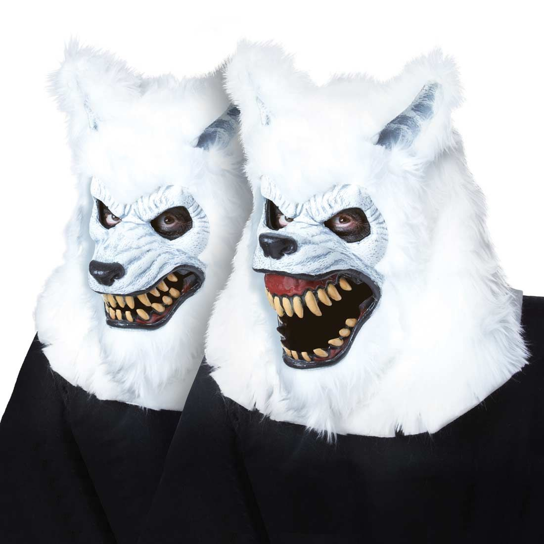 White Lycan Werewolf Ani-Motion Scary Mask | Mens Costumes | Pinterest