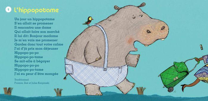 Hippopotame Comptines Pour Chanter La Savane Chantscomptines Comptine Hippopotame