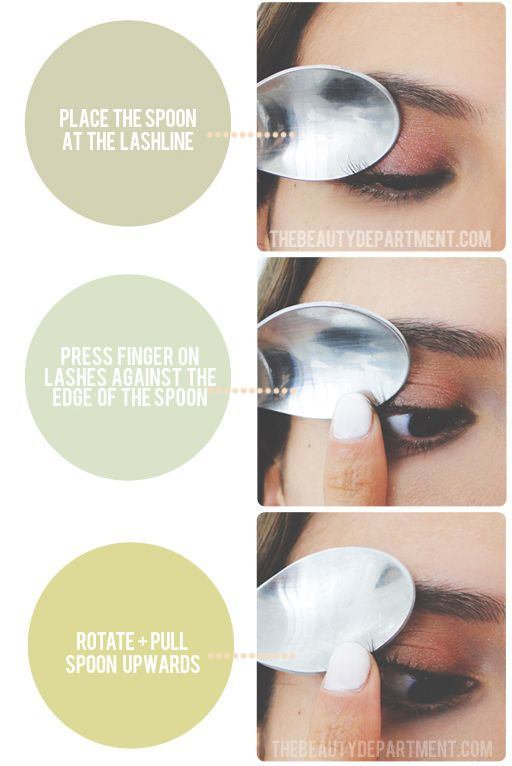 Diy How To Curl Eyelashes With Spoon Tutorial From Beauty Tips