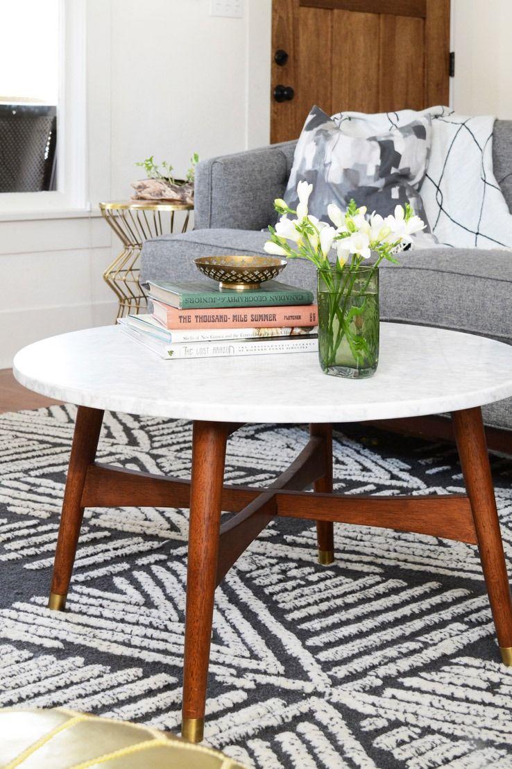 mid century coffee table west elm