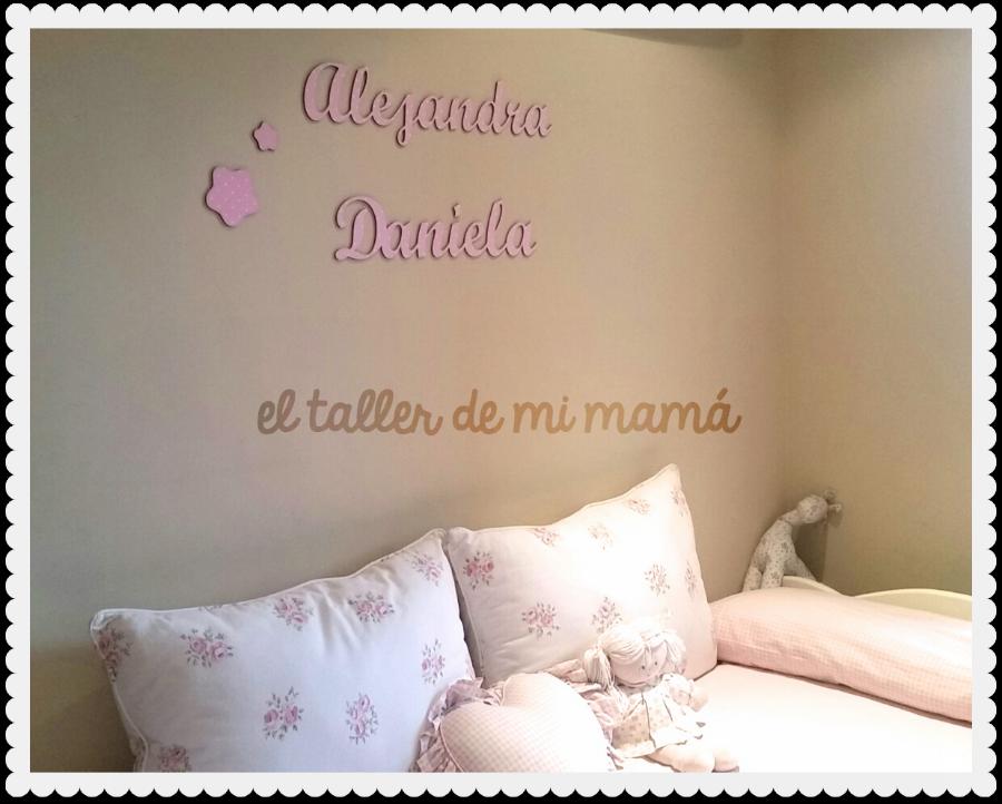 ¿Qué os parece el resultado de la habitación con los dos nombres en madera? a nosotros nos encanta! #decoracion #diy