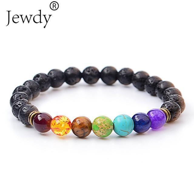 bracelet 7 chakras en pierres naturelles