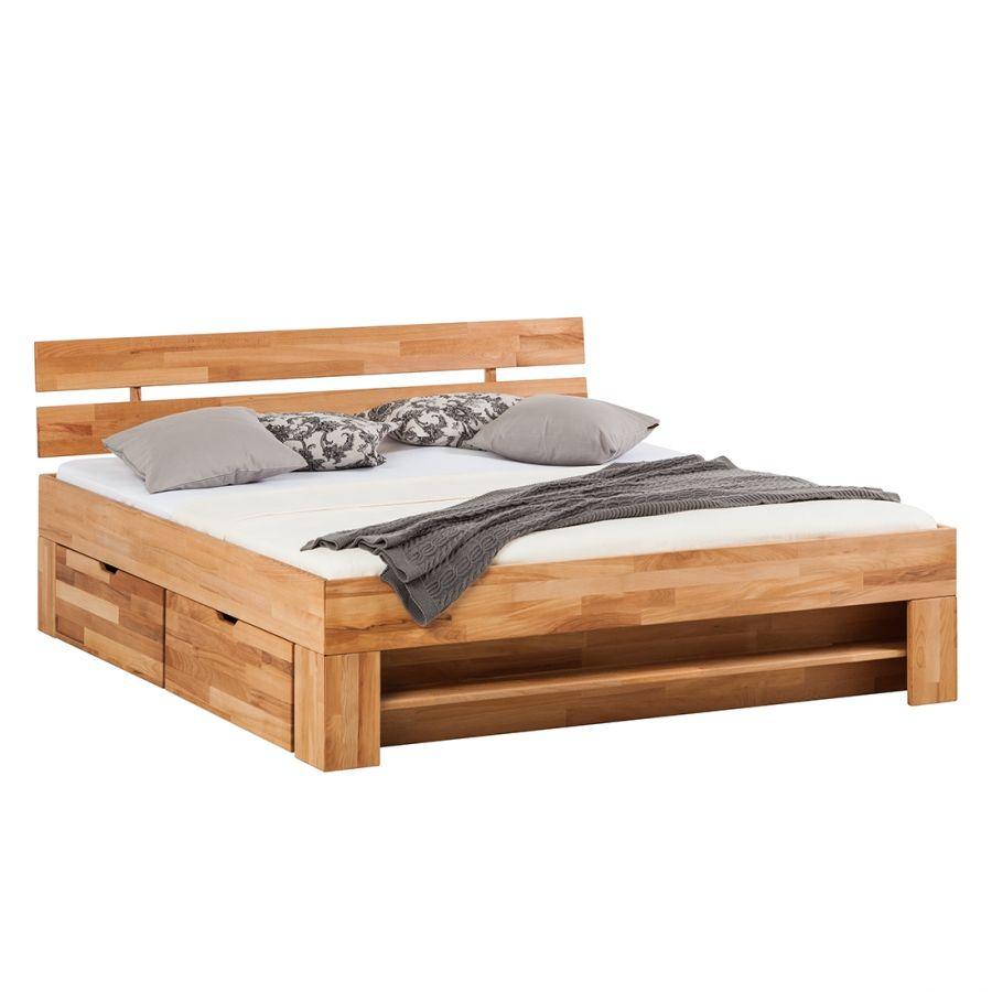 Massivholzbett Eoswood Aus Kernbuche 140 X 200 Cm Home24 Houten Bed Bed Bed Met Opbergruimte