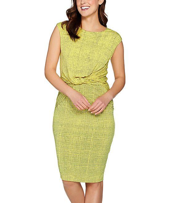 Sunglow Grid Sheath Dress - Plus Too