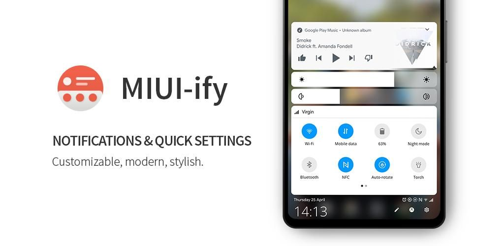 Miui Ify Notification Shade Amp Quick Settings 1 8 8 Apk For Android In 2021 Hotspot Wifi Android Security Mobile Data