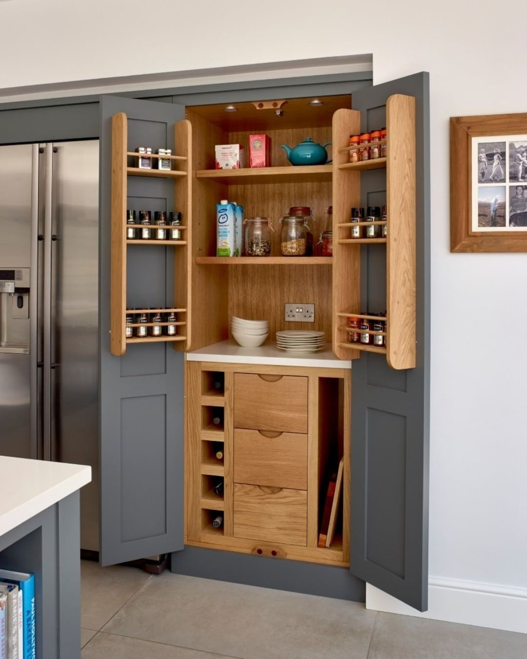 Higham Furniture On Instagram Our Enthusiasm For Larders And Breakfast Cupboards Continues Unabated And We Were Very In 2020 Tall Cabinet Storage Cupboard Furniture