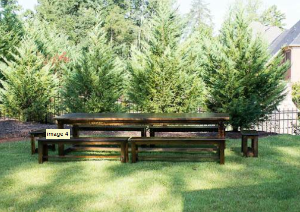 giant picnic table for large dining room http://charlotte ...