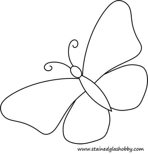 Butterfly Stained Glass Pattern Con Imagenes Mariposa De