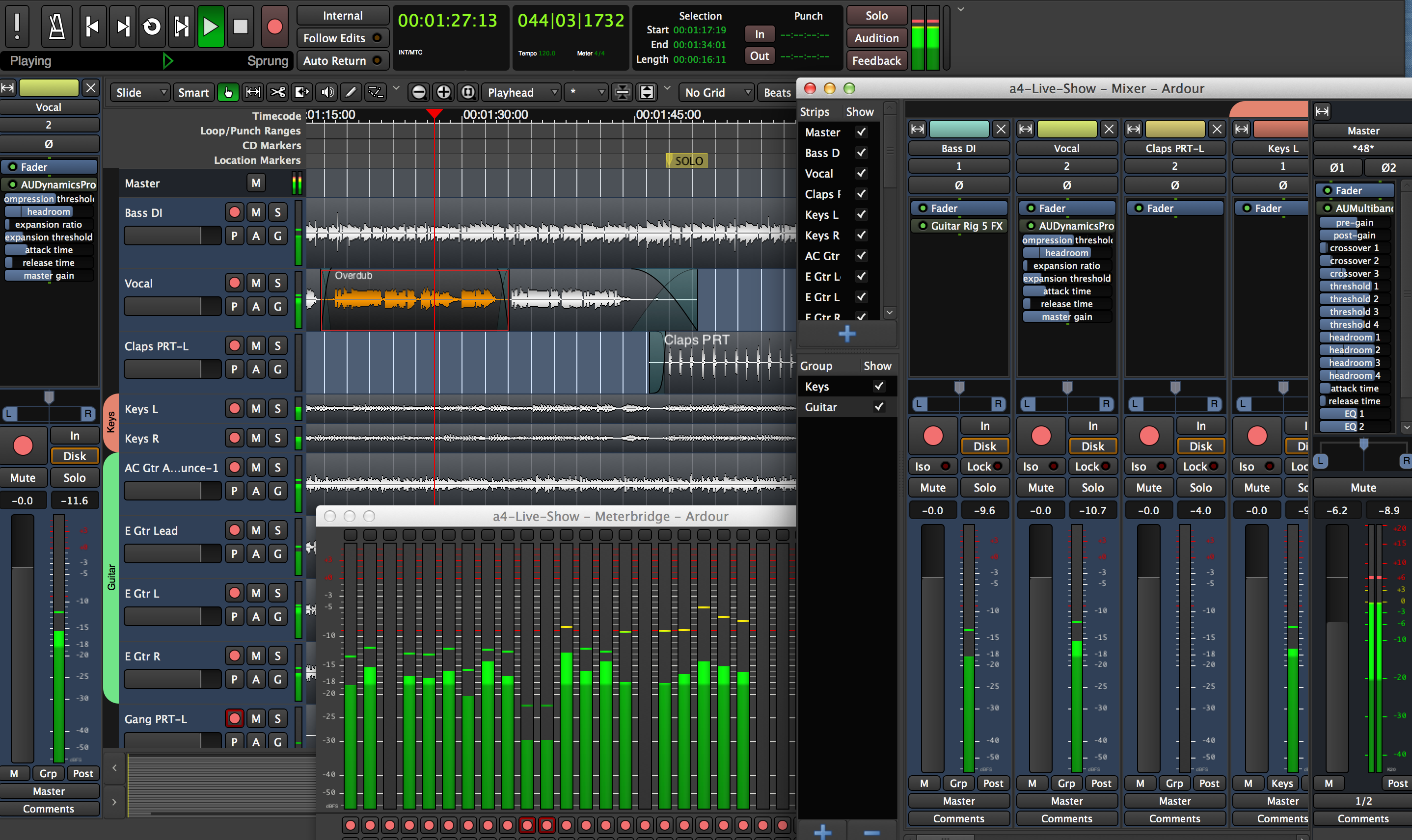 Ardour the digital audio workstation. Record, Edit, and