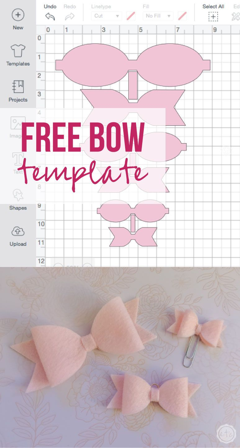 Free Pdf And Cricut Files For 3 Sizes Of Cute Little Bows