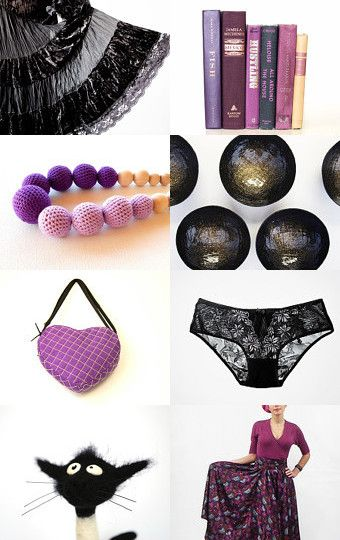 ..for mom.. black and purple by Irina Kochevskaya on Etsy--Pinned with TreasuryPin.com