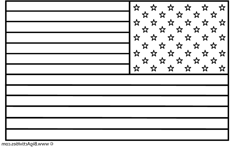 Us Flag Coloring Page Dengan Gambar