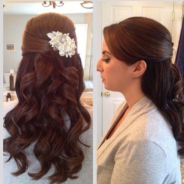 Hair 15 Fabulous Half Up Down Wedding Hairstyles