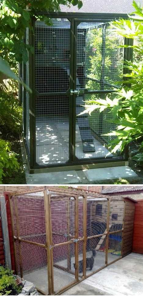 Outdoor Cat House Design Plans: Cagey Kitty: 7 Safe & Secure Outdoor Cat Enclosures