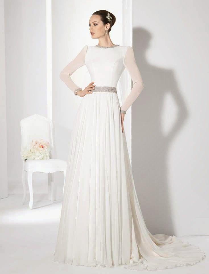 10 vestidos de novia de manga larga: ¡elegantes y con clase
