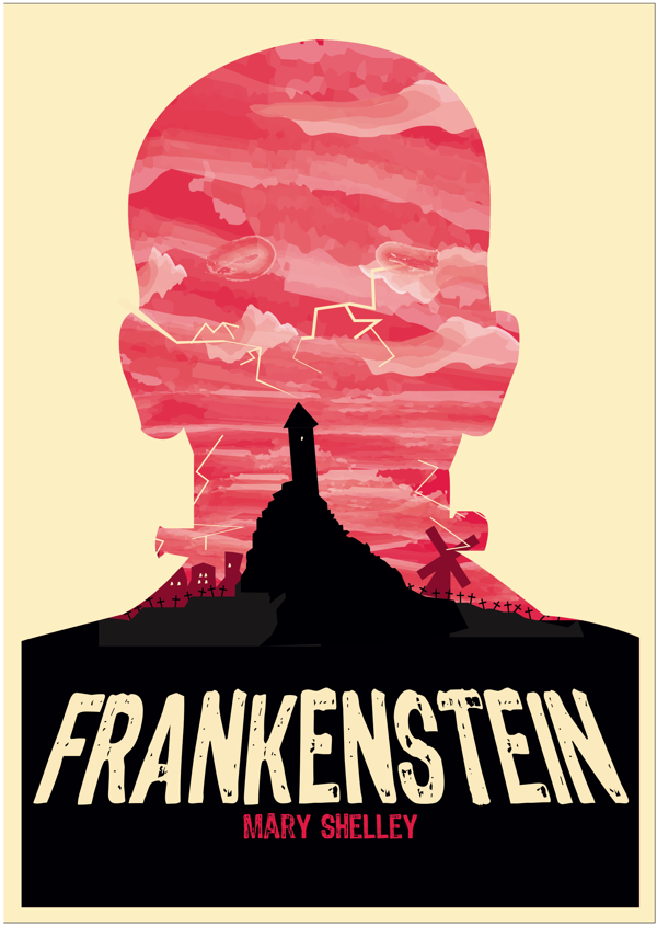 The brief was to design two book covers from a selection of books of our  choosing. I had chosen to design the cove… | Umschlagdesign, Buchdeckel  kunst, Frankenstein