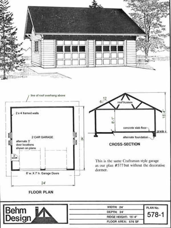 Best 24 X 24 24X24 24 X24 Roof Overhang Two Car Garage 2 Car 400 x 300