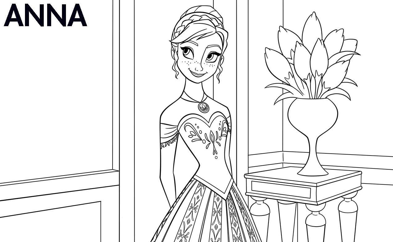Free Disney Frozen printable coloring pages. Page 3