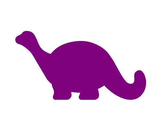 Dinosaur simple. Cute brontosaurus silhouette custom