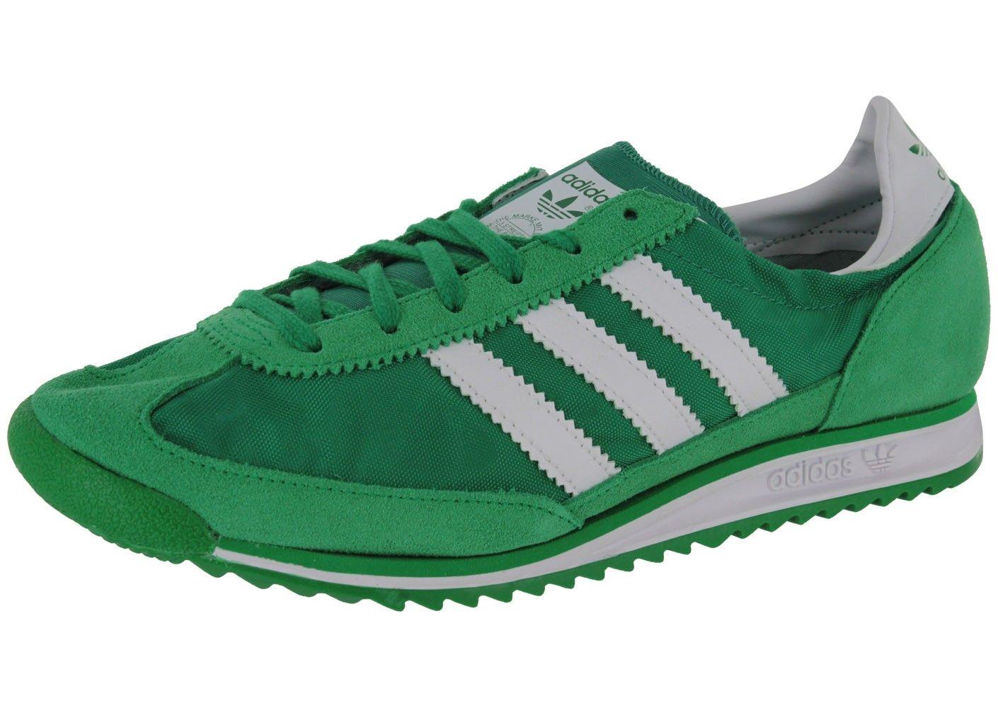 Chaussures Adidas Sl 72 Verte Vue Avant