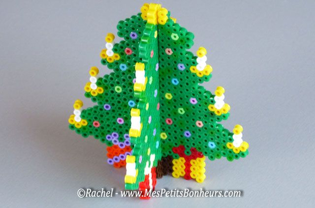 christmas tree 3d hama beads