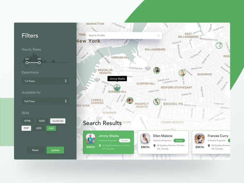 Search Filters Talent Finer Web Web App Design Web Design App Map