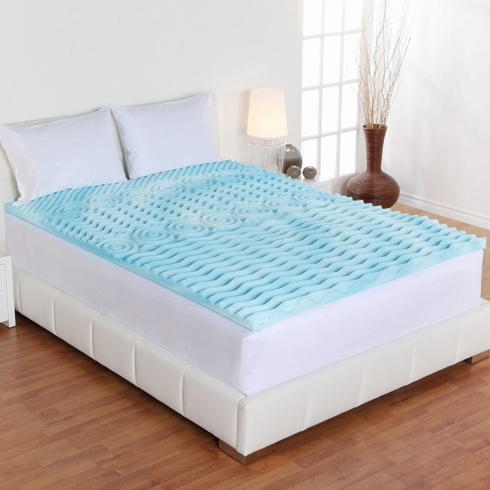 Cal King Size Orthopedic Memory Foam Mattress Firm Bed Topper Gel Pad 3 Cover