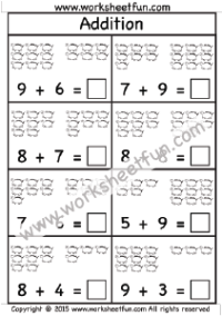 addition worksheet sums up to 20 one worksheet kindergarten worksheets free printable. Black Bedroom Furniture Sets. Home Design Ideas