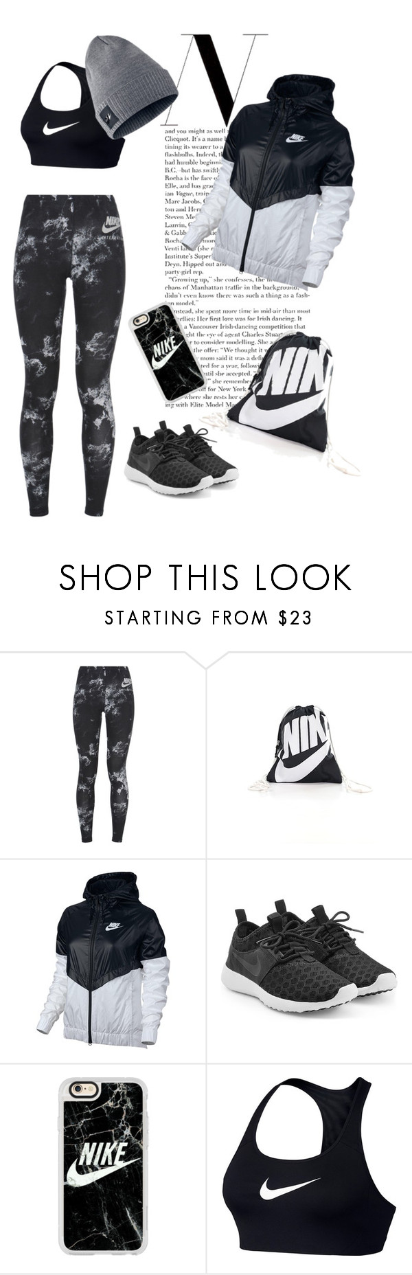 """""""N"""" by sicksyd ❤ liked on Polyvore featuring NIKE and Casetify"""