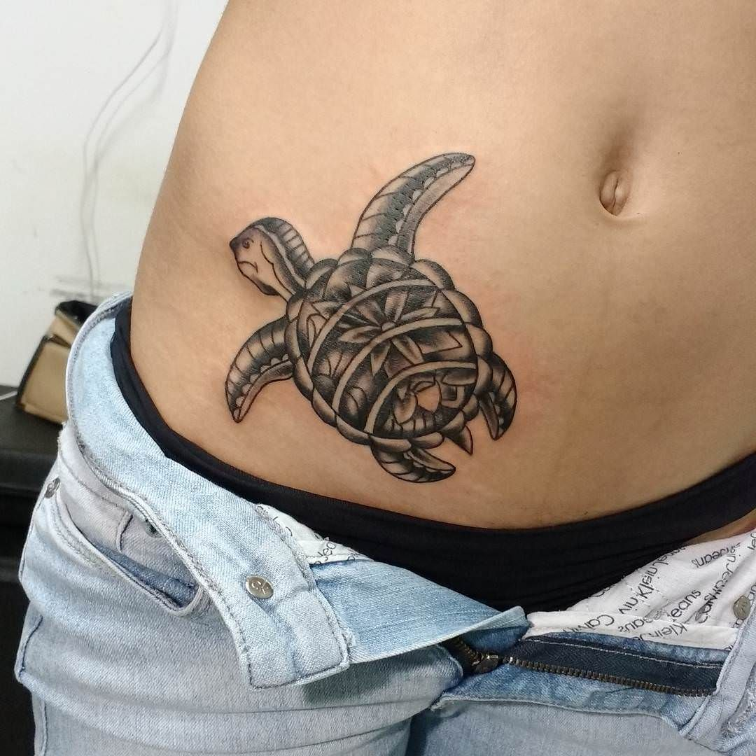 Psychedelic Turtle Tattoo Pictures to Pin on Pinterest