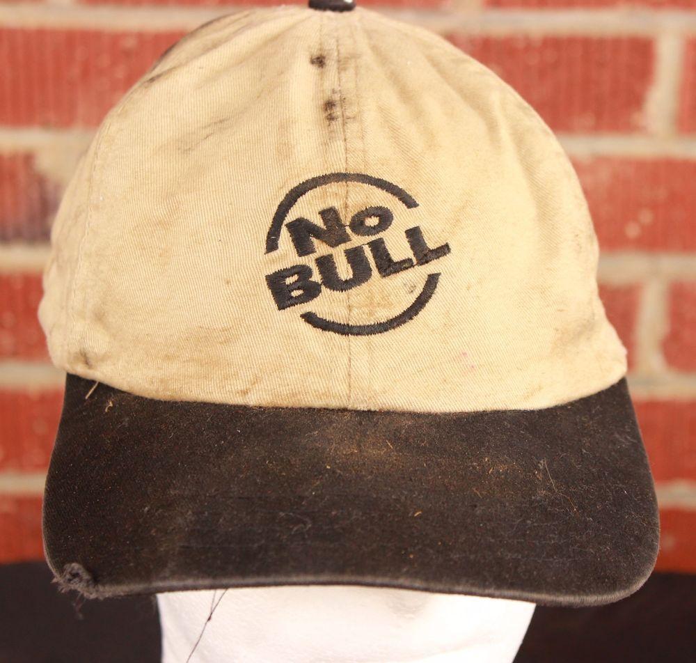 Destroyed Winston No Bull Baseball Hat Beat Up Cap Chase Nascar Racing Tan Black #Winston #BaseballCap
