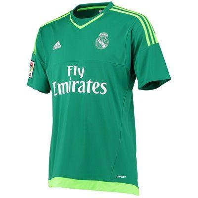 official photos d32d3 b1b4c Real Madrid Away Goalkeeper Shirt 2015/16 - Green | Wishlist ...