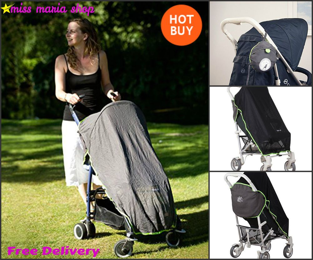Stroller Mesh Cover Pushchair Sun Cover Stroller Mesh Nap Shade Blind Sleep Uv