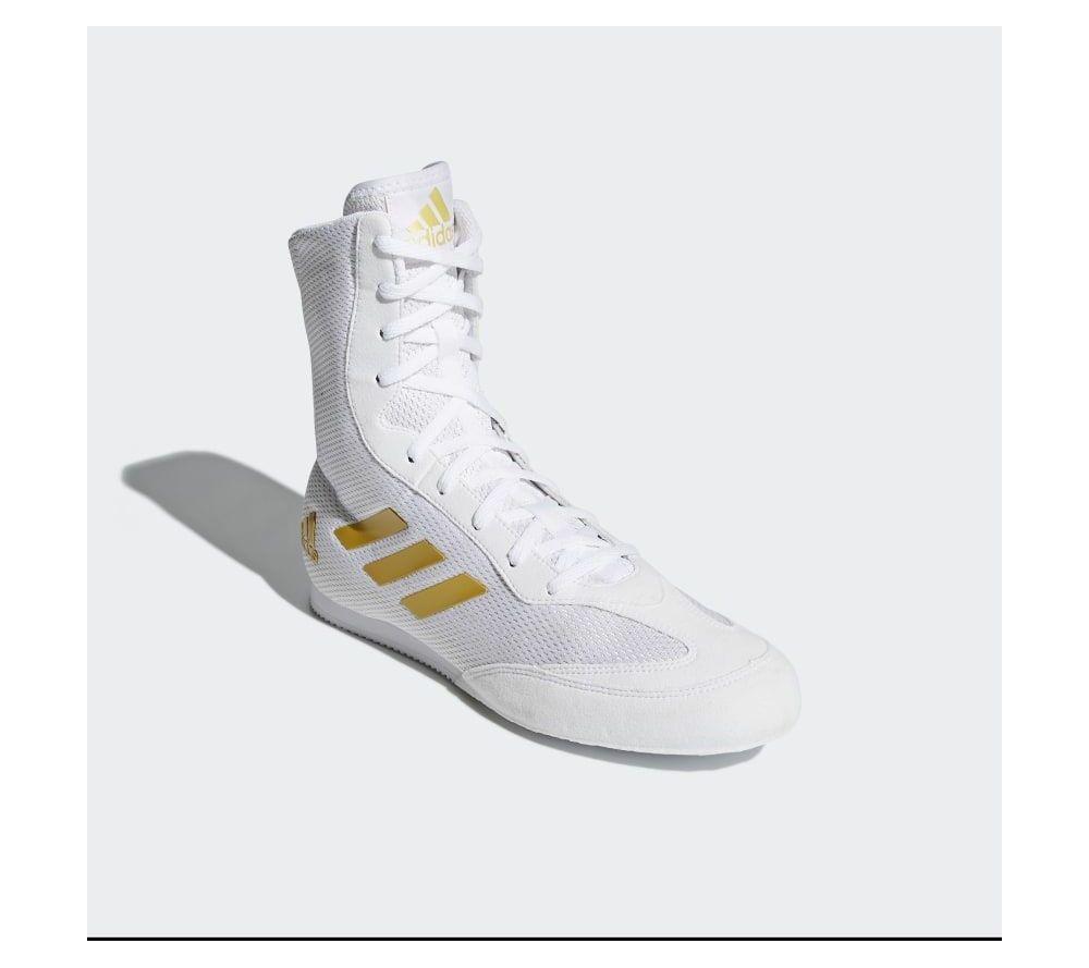 release date 618c5 549d9 Боксерки Adidas Box Hog Plus - белые   золото New 2019  boxing  boxingshoes