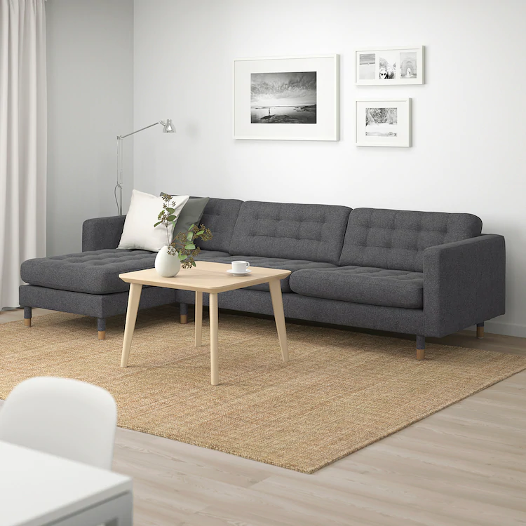landskrona sectional 4seat  with chaise gunnared dark