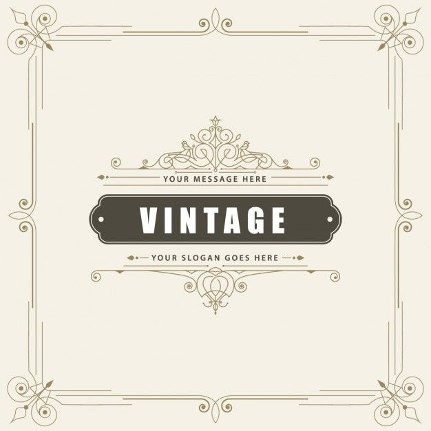 Vintage ornamental greeting card Free Vector | FreePik & Zazzle ...