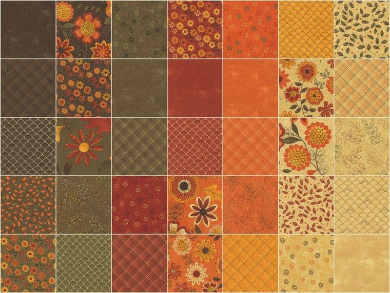 Beauty-Fall Mini Charm Pack - Sandy Gervais - Moda Fabrics ... : fall quilt fabric - Adamdwight.com
