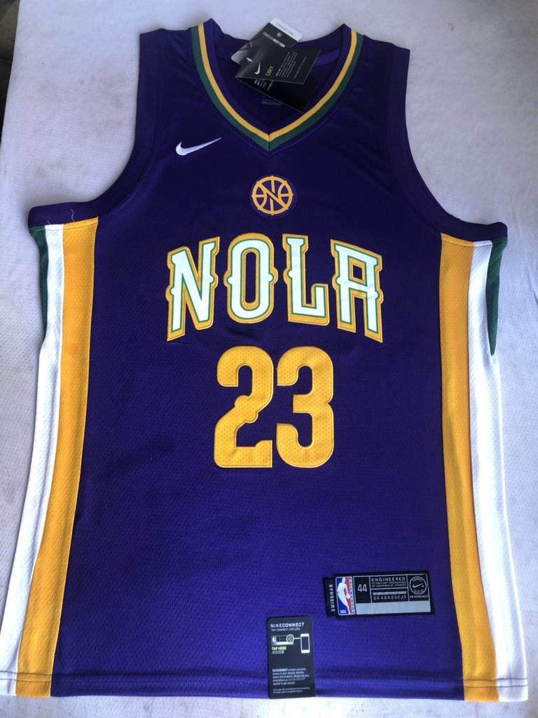 Men 23 Anthony Davis Jersey Purple New Orleans Pelicans City Edition ... ed896f182