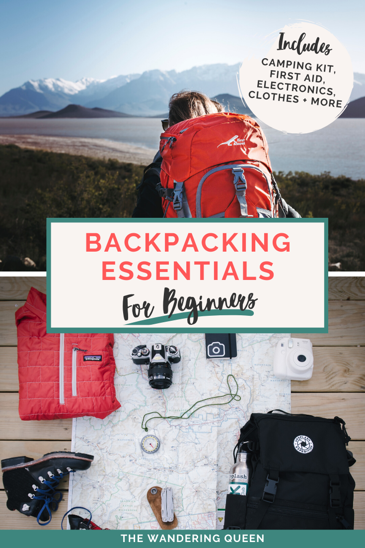 Backpacking Essentials For Beginners The Wandering Queen In 2020 Backpacking Essentials Backpacking Gear Travel Backpacking